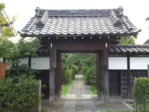 Choshoji Temple with green woods