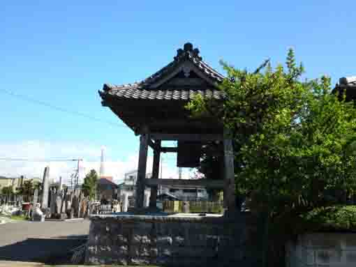the bell tower in Genshinji Temple