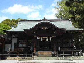 the main hall of Katsushika Hachimangu