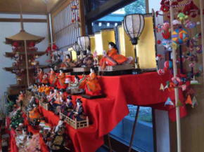 Hina Ningyo dolls at the entrance