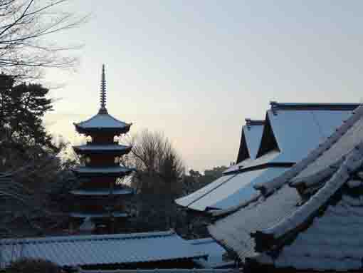 gojunoto covered with snow in winter
