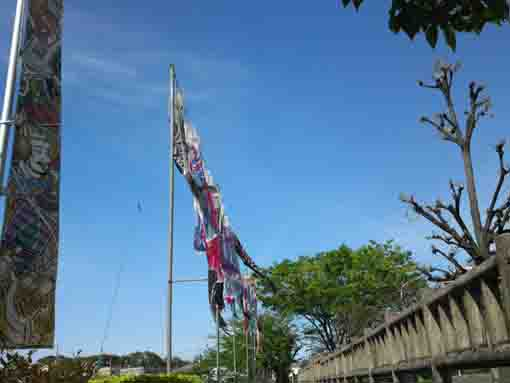 koinobori flags in Kozato Park ③