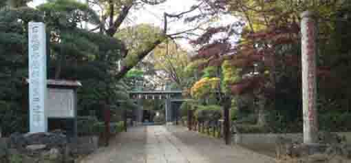 the approach of Onjuin Temple