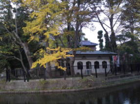 the island on the ryuo-ike pond