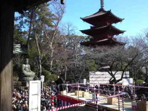 the setsubun festival in Hokekyoji