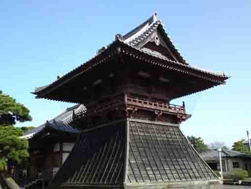 the bell tower in Tokuganji Temple