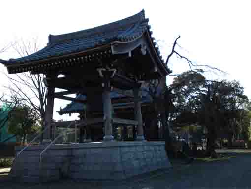 the bell tower in Daiunji Temple